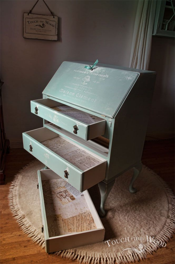 Shabby Chic Makeover Bureau No 23 Touch The Wood Furniture In