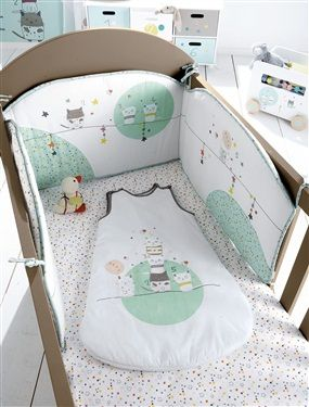 tour de lit bébé brodé Tour de lit bébé brodé thème Chat perché, Puériculture | Chambre  tour de lit bébé brodé