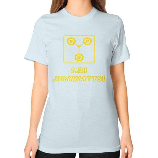 Flux capacitor Unisex T-Shirt (on woman)