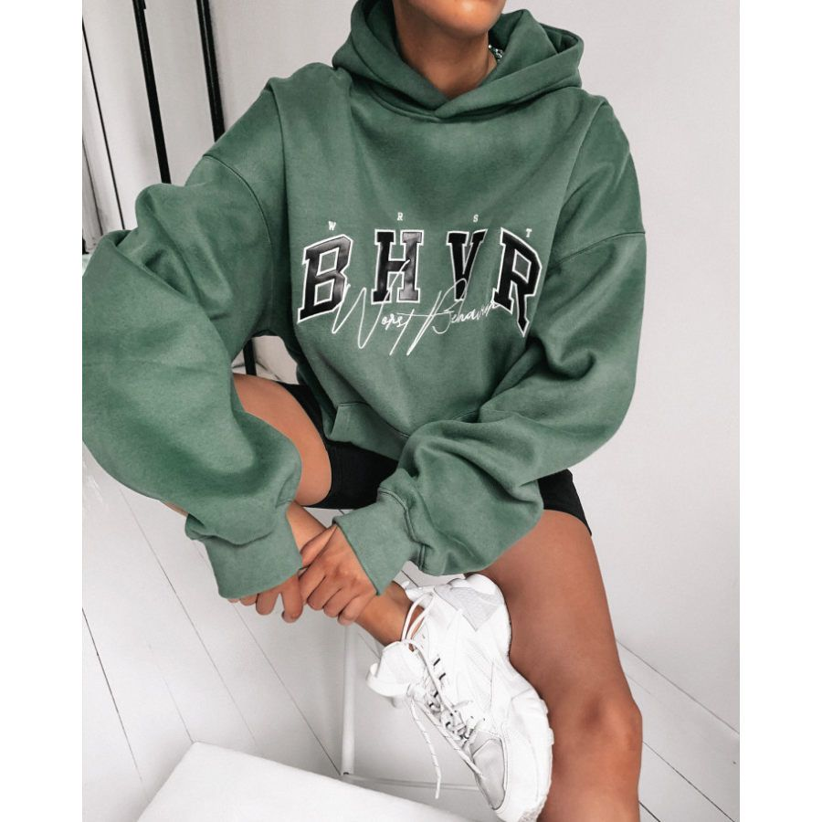 Vintage Loose Long Sleeve Sweatshirt Aspenname Com In 2021 Hoodie Outfit Casual Vintage Hoodies Oversized Hoodie Outfit [ 900 x 900 Pixel ]