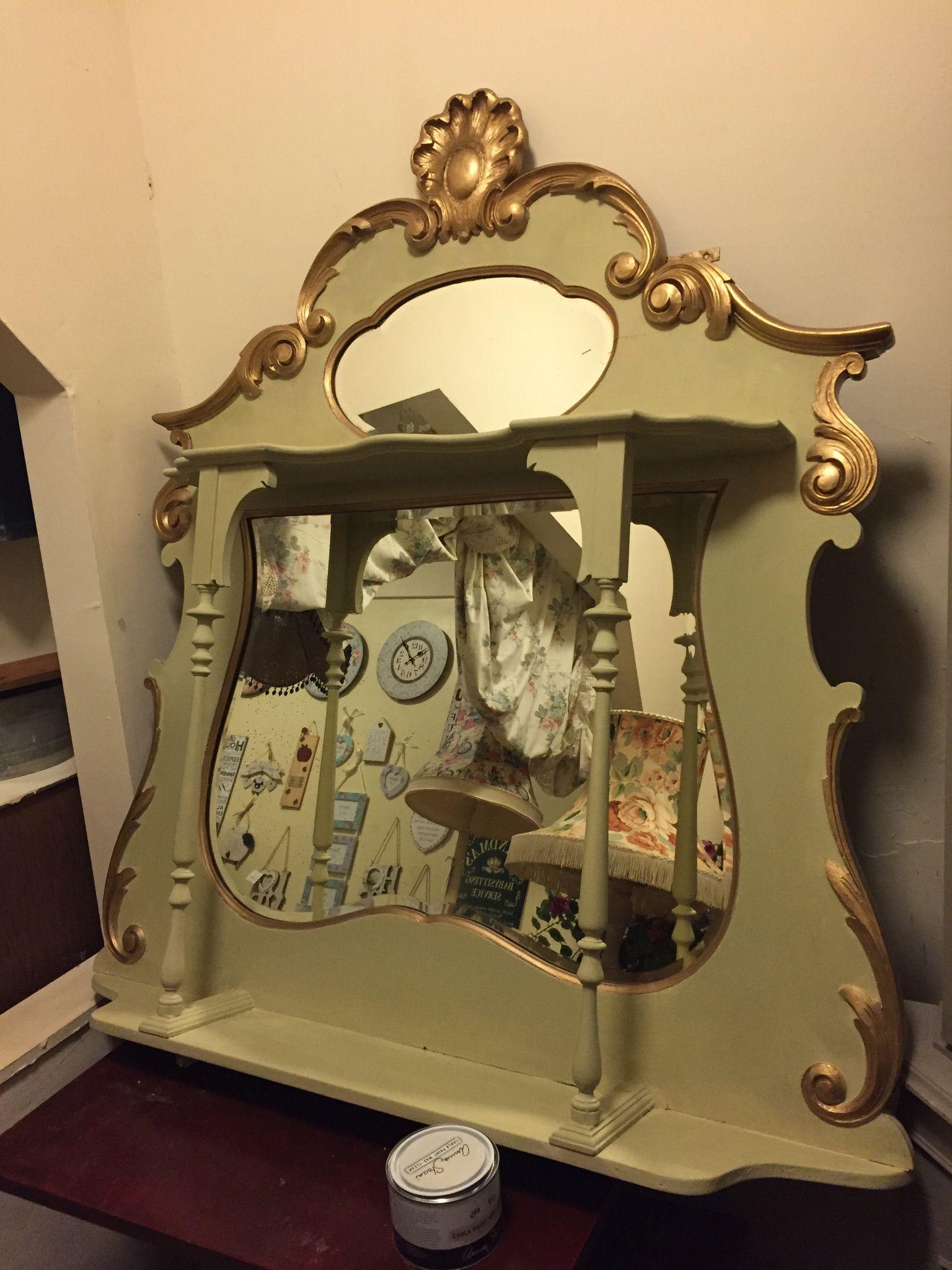 Antique mantel mirror for sale