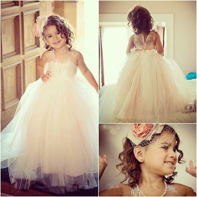 Formal Lace Baby Princess Bridesmaid Flower Girl Dresses Wedding ...