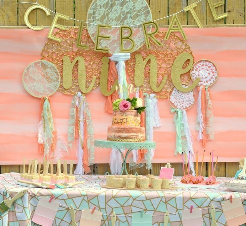 This Boho Backyard Birthday party theme from