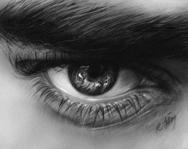 ojo realista  Buscar con Google  Retratos  Pinterest  Ojo