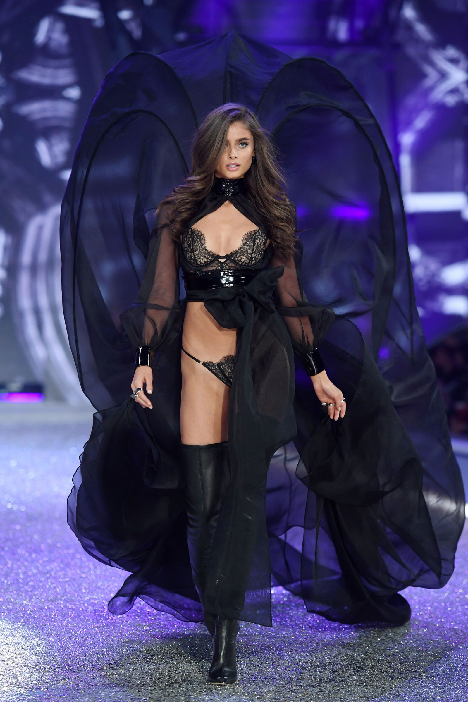 22adc2f086 Taylor Hill for Victoria s Secret Fashion Show 2016 - HarpersBAZAAR.com