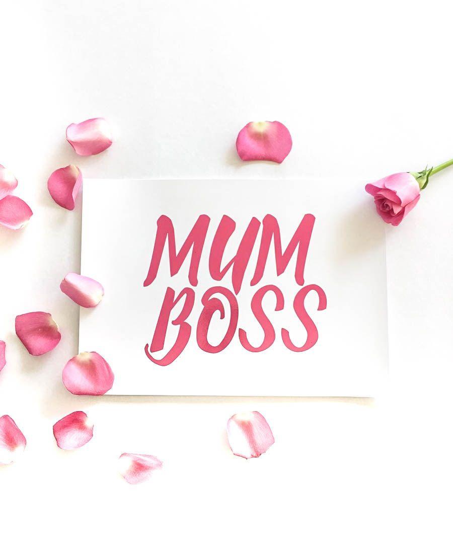 Mum Boss Gold Foil Print Mothers Day Gift For Mum Mom