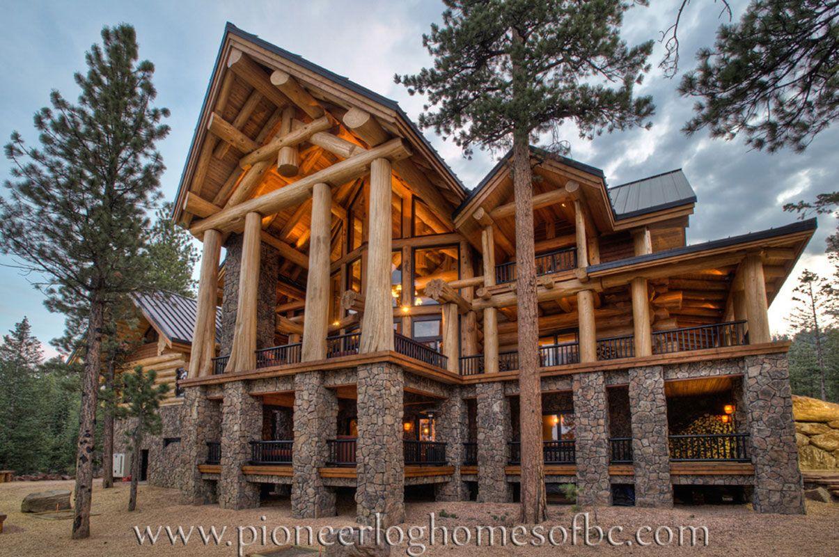 view pioneer log homes u0027 gallery of images of handcrafted western