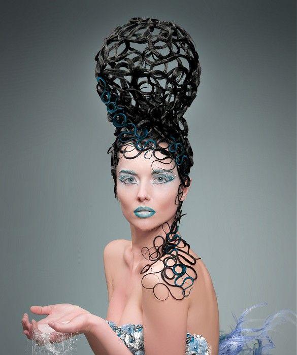 long black avant garde hairstyles
