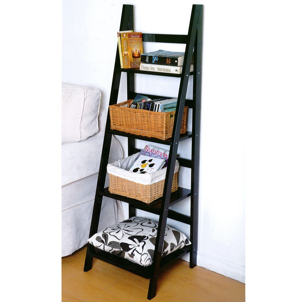 House Additions Narrow Ladder Bookcase