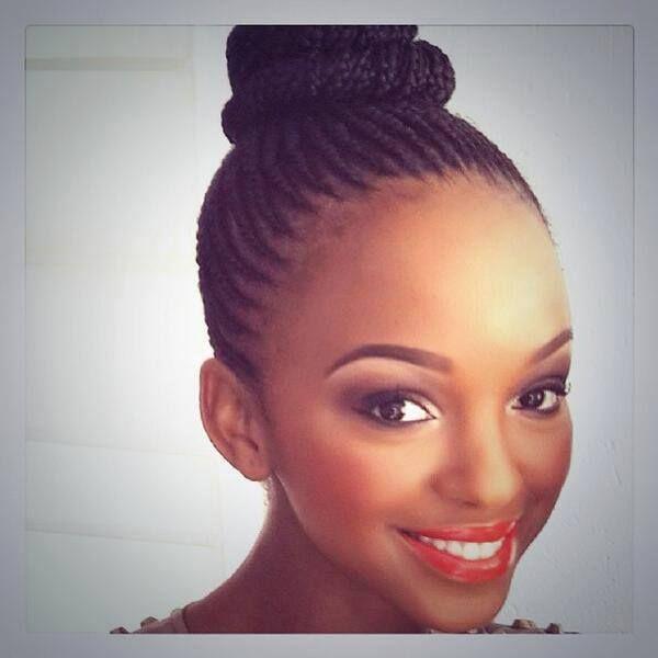Nandi Mngoma Cornrow Hairstyles Hair Styles Hair Beauty
