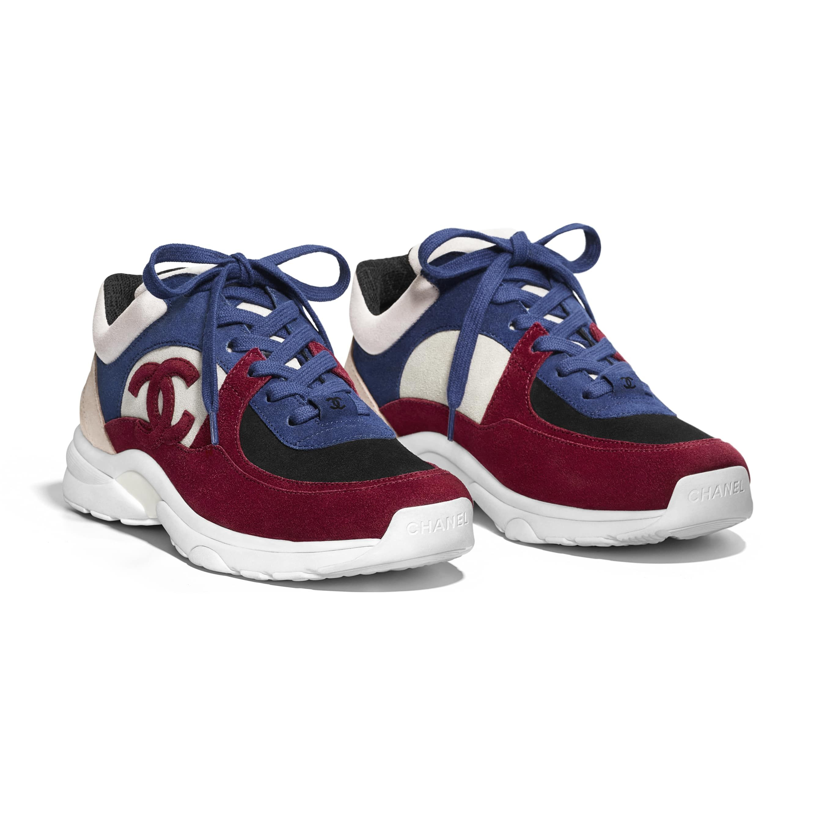 1747c19ffac4 Sneakers - Navy Blue   Red - Suede Calfskin - Alternative view - see  standard sized version