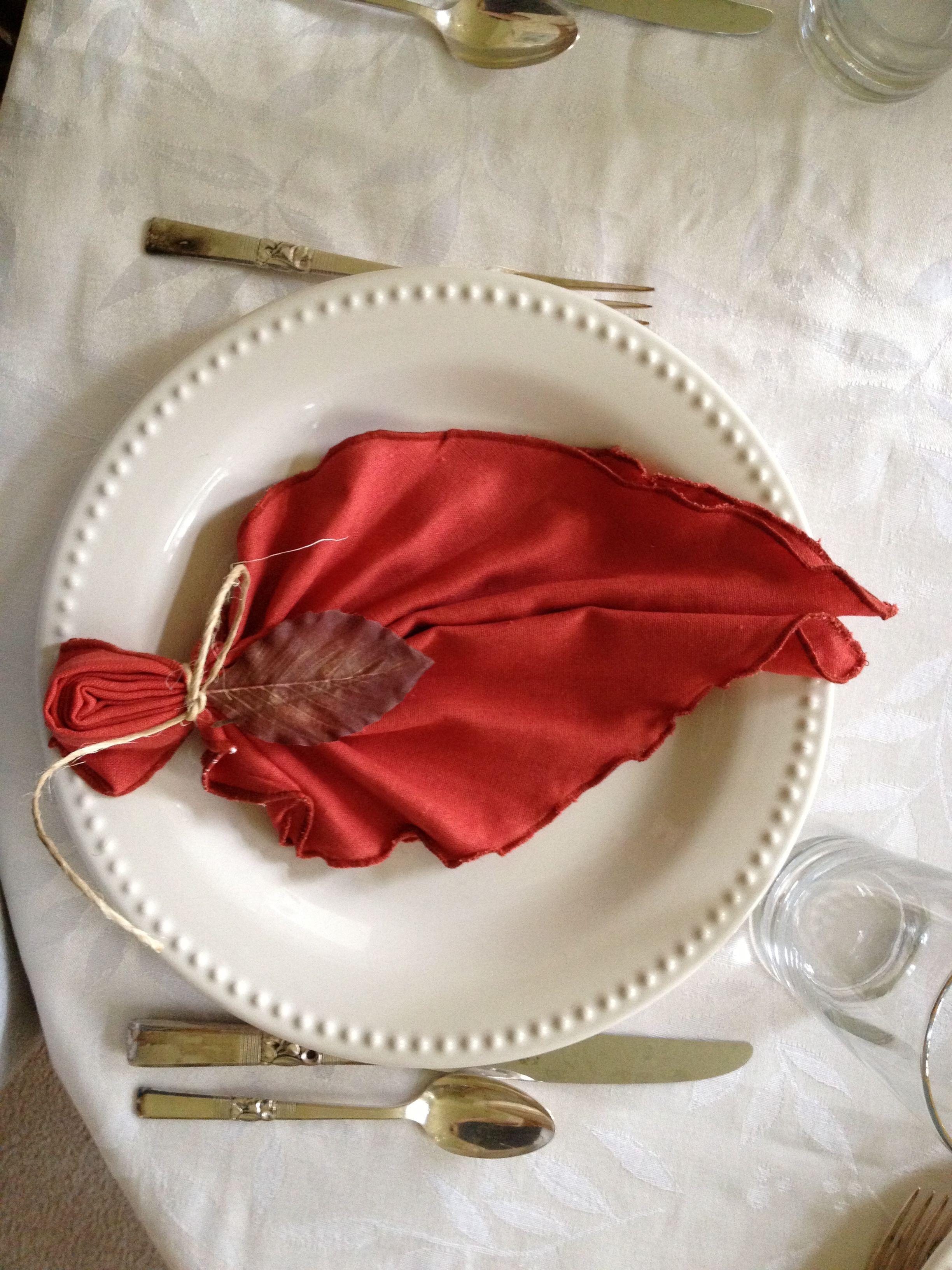 Creative Wedding Ideas for Table Napkins | Accordion fold ...
