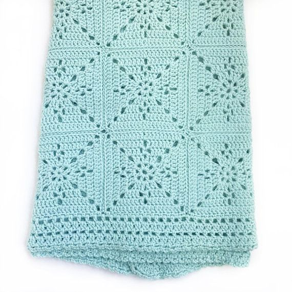 Crochet Baby Blanket Pattern – Arielle's Square – Easy Granny Square – Pattern by Deborah O'Leary Patterns