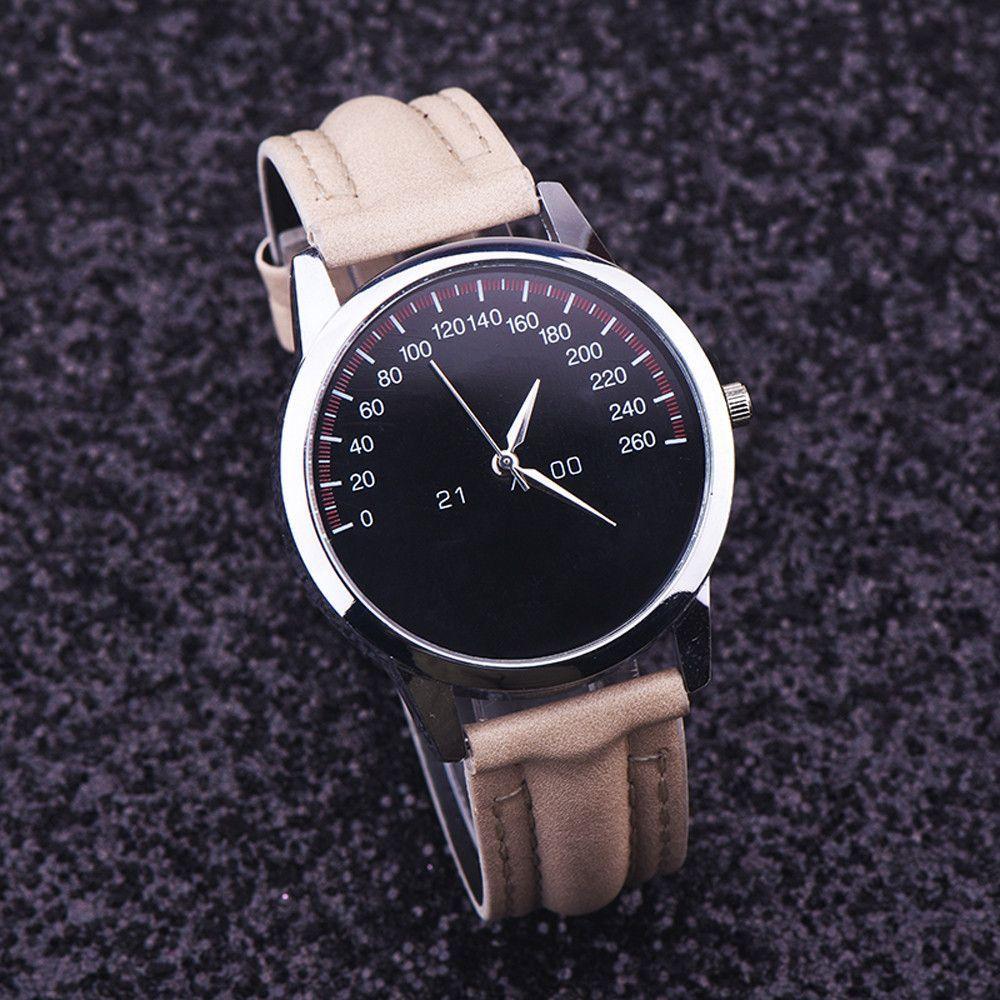d5fa3fd09 Quartz Watch Men Watches Top Brand Luxury Famous Wristwatch Male Female  Clock Faux Leather Quartz-