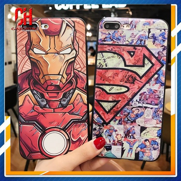 hot sale online 17def 0faf1 Super Hero soft phone case for samsung Galaxy S8 S8 plus S9 Note 8 ...