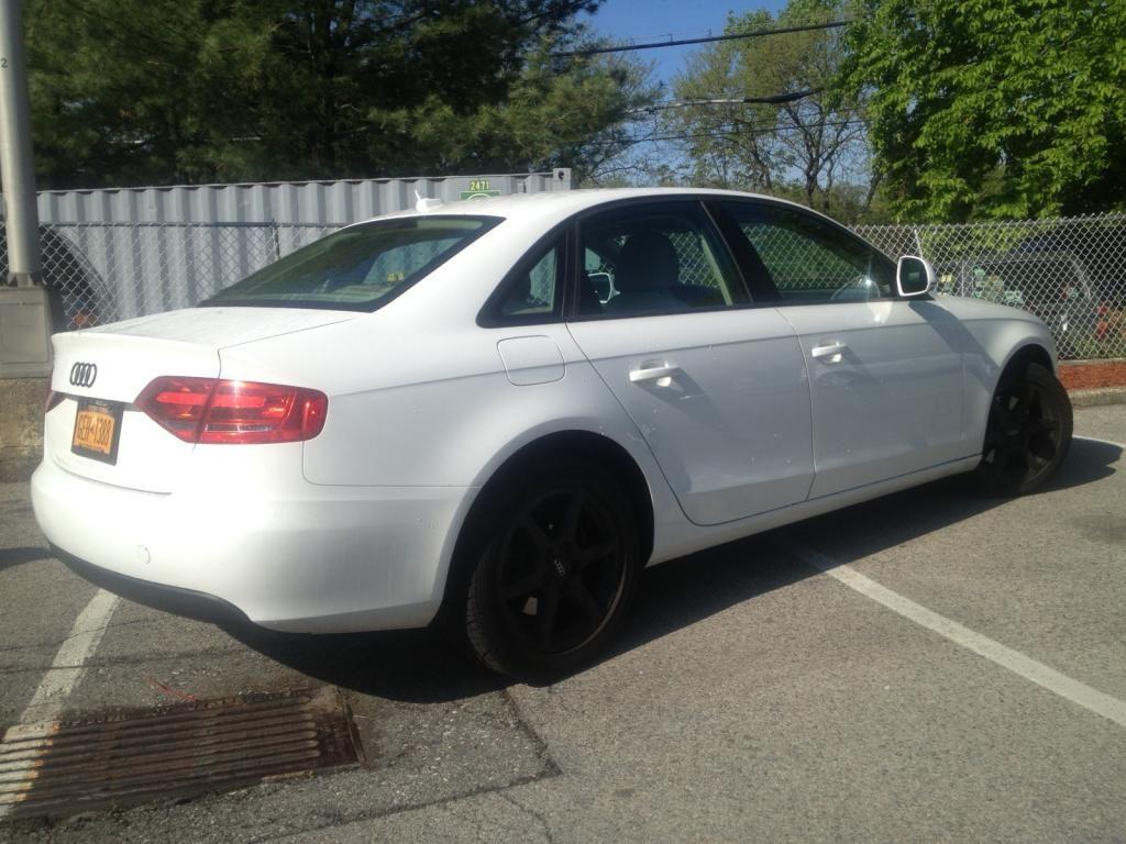 Audi A4 B8 Matte Black Rims Black Rims, Matte Black, Audi A4