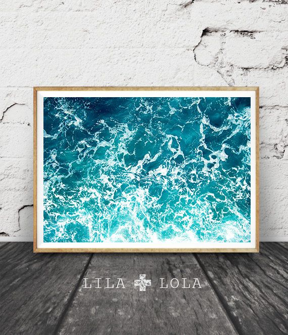 Ocean Art Print Waves Water Coastal Wall Decor Beach by LILAxLOLA ...