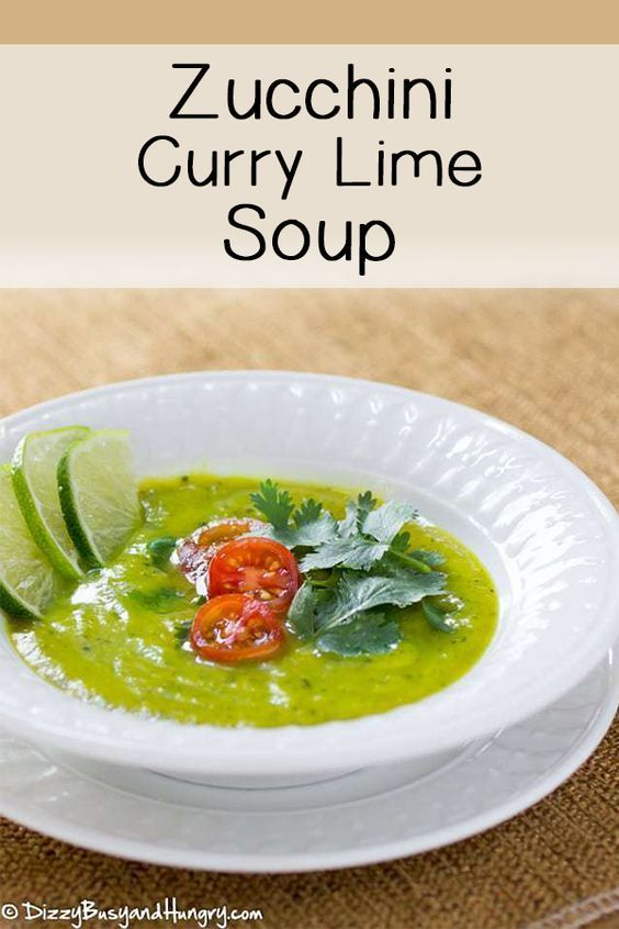 Zucchini Curry Lime Soup How to make Zucchini soup with curry and lime flavors