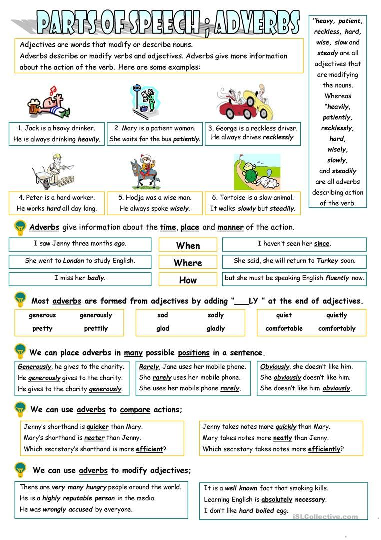 Adverbs English Esl Worksheets For Distance Learning And Physical Classrooms Adverbs Adverbs English Writing Skills