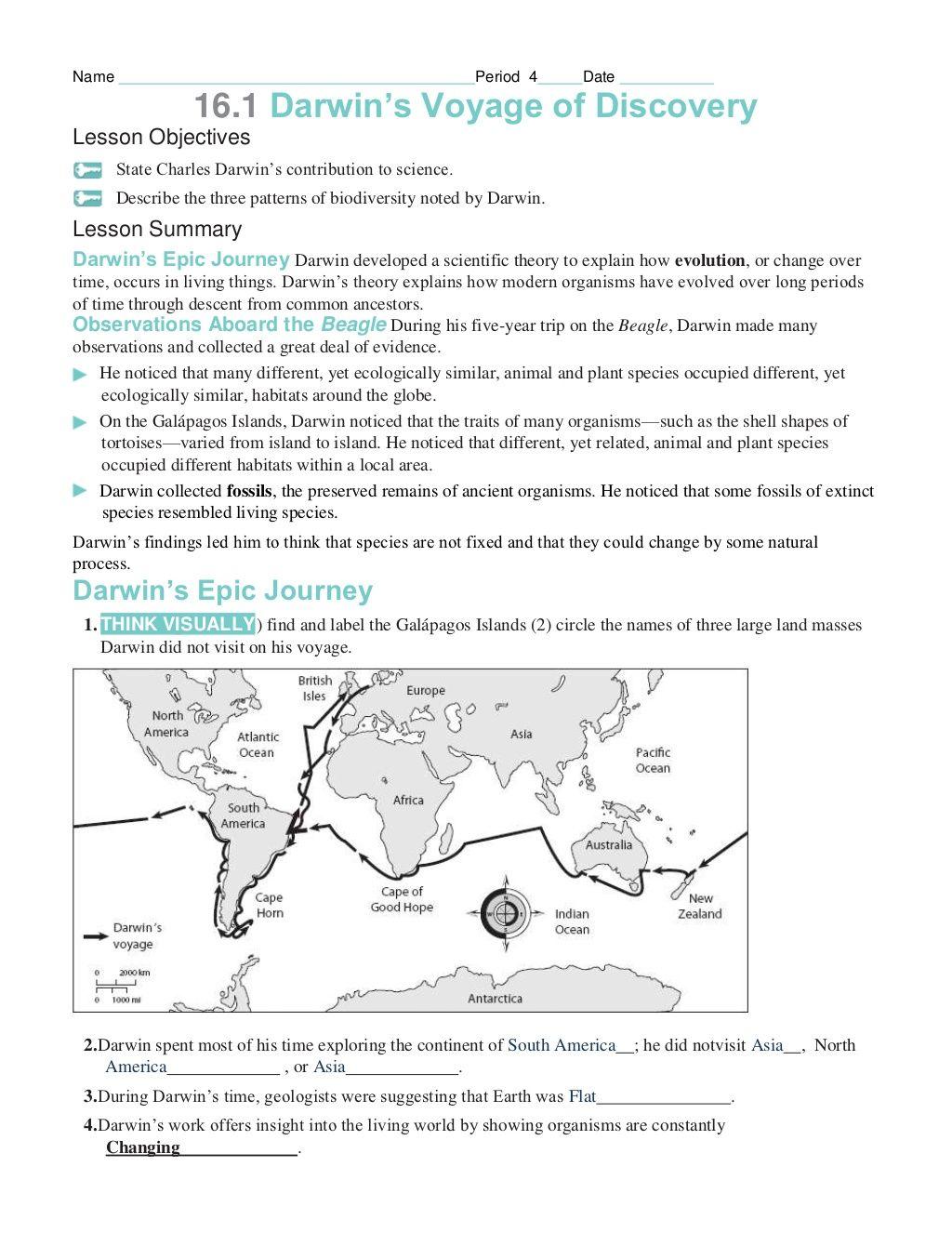 Chapter 16 Worksheets By Jfg082 Via Slideshare