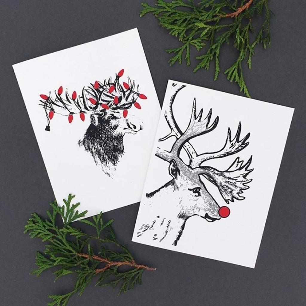 HOLIDAYS | RUDOLPH GLOW #christmascard #moose #minnesota #deer ...