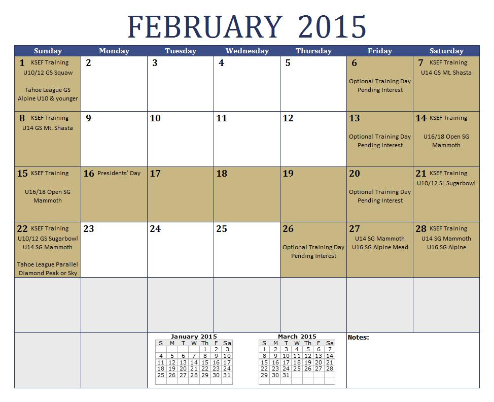 Download February 2015 Calendar Three Months Template Design