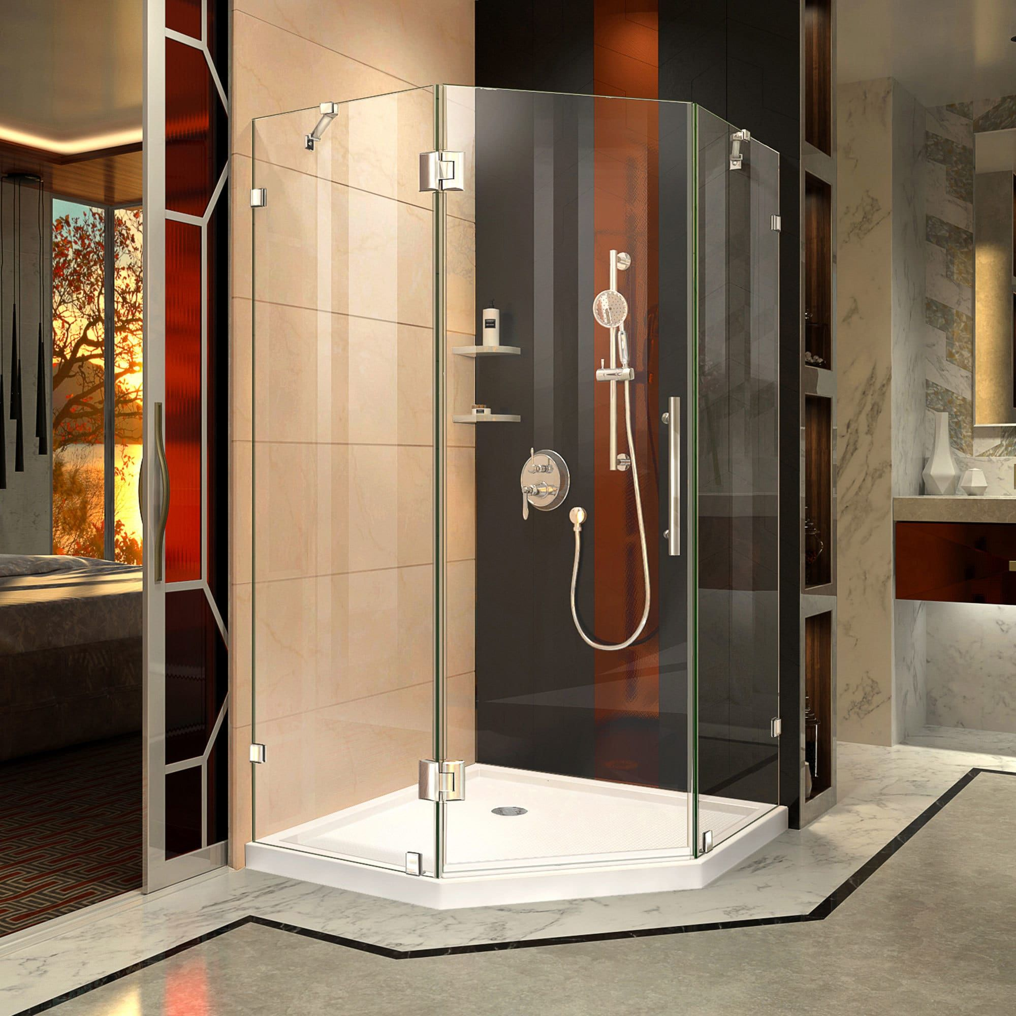 Dreamline Prism Lux 38 In X 38 In X 74 3 4 In H Hinged Shower