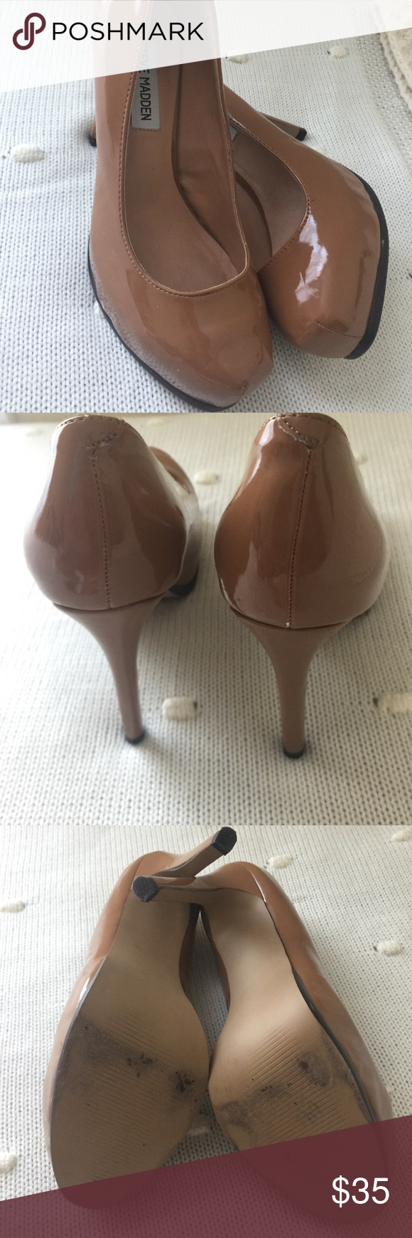 Tan Nude Steve Madden Pumps Very minor signs of use and still in very good,