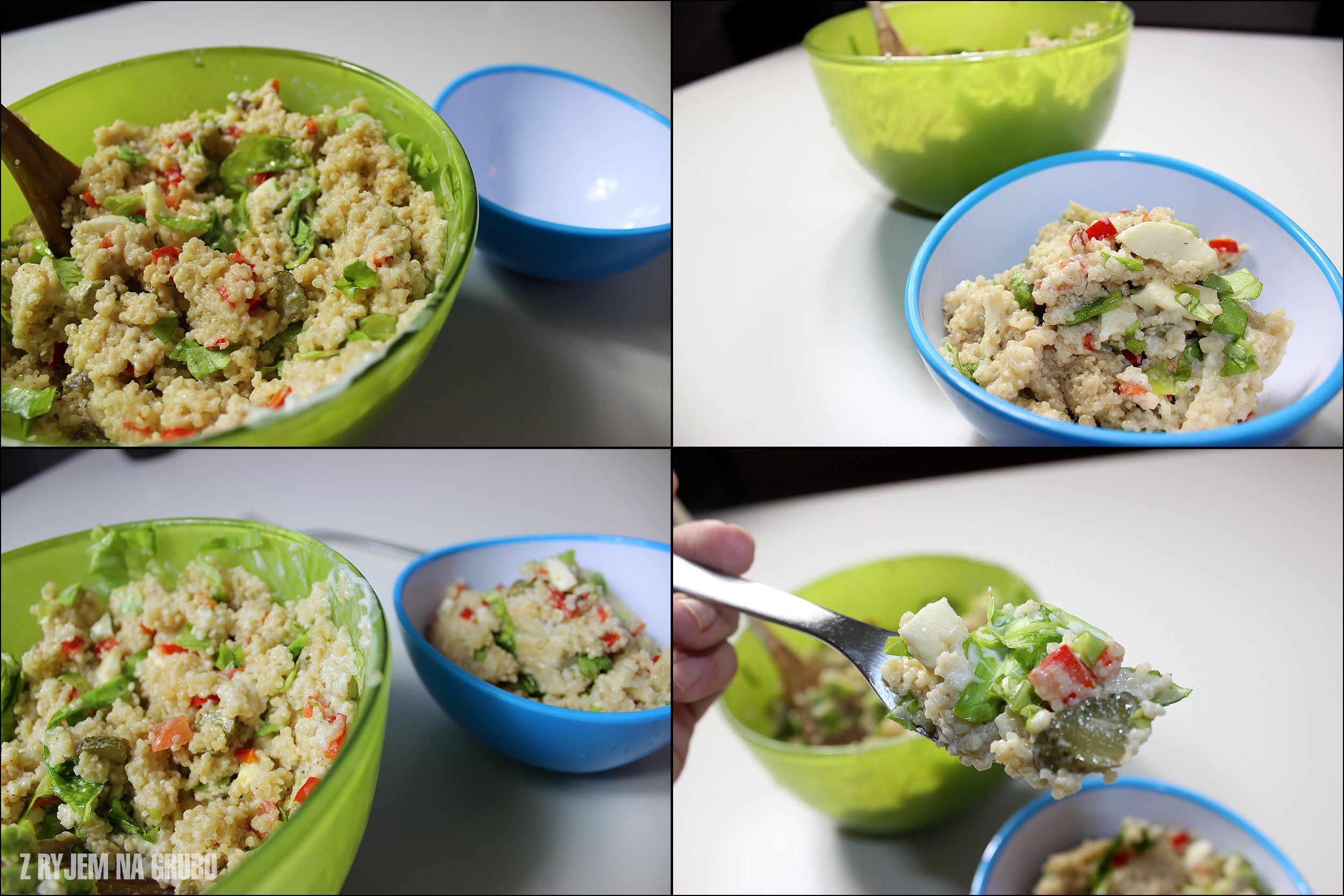 Decided to make a Little cous-cous salad snack... went overboard as usuall... [OC] #TTDD#TheThingsDadsDo