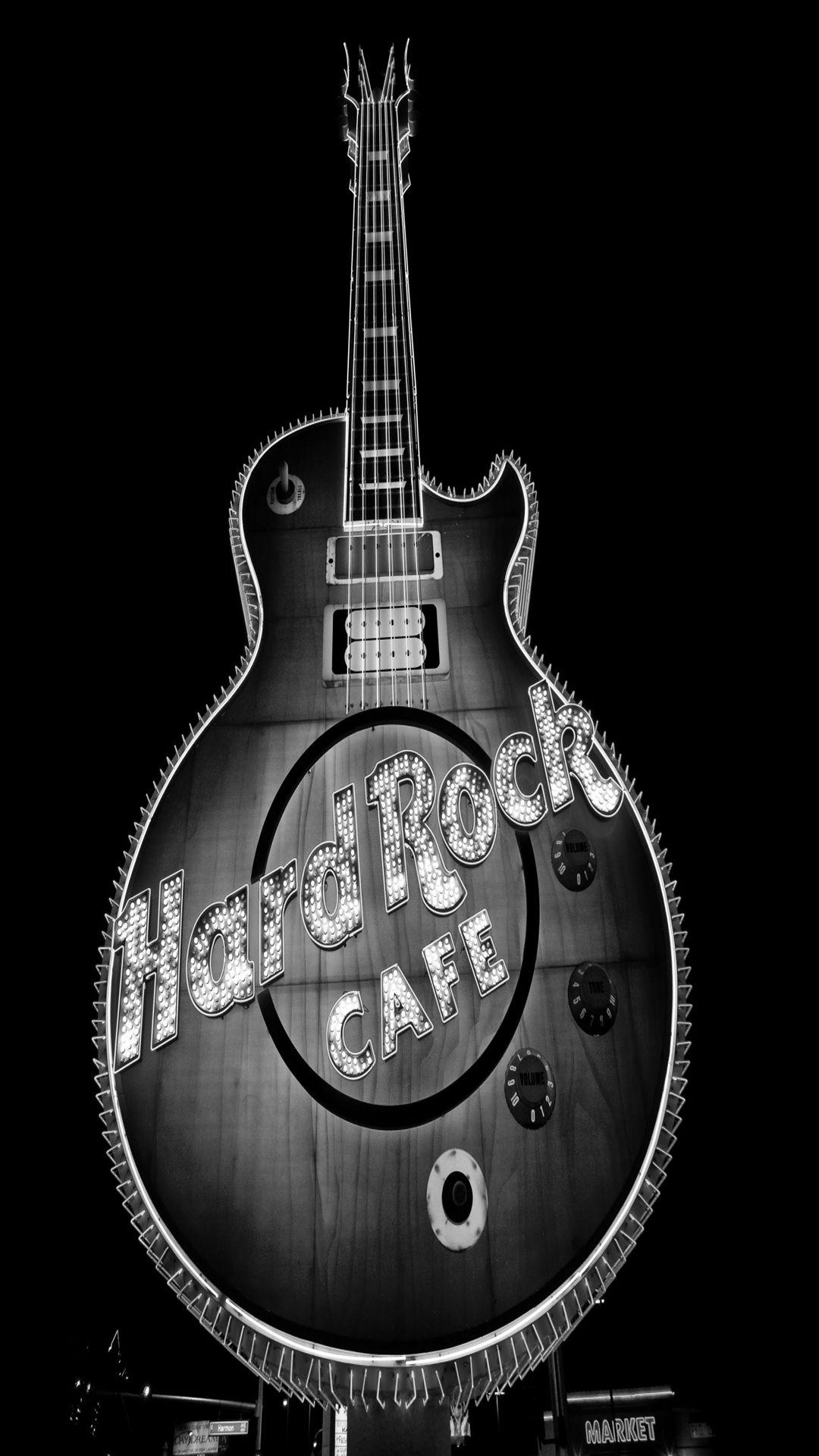 Guitar Black Background
