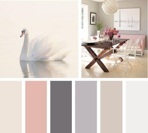 Una gama en tonos neutros siempre visten bien un espacio - Paleta de colores para paredes interiores ...
