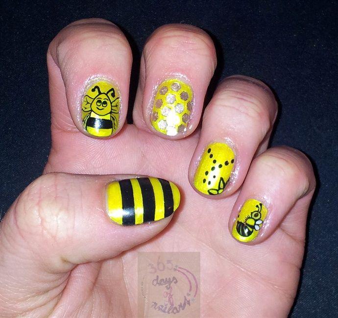cool yellow black bee acrylic nail designs - Cool Yellow Black Bee Acrylic Nail Designs 22 Acrylic Nail Art