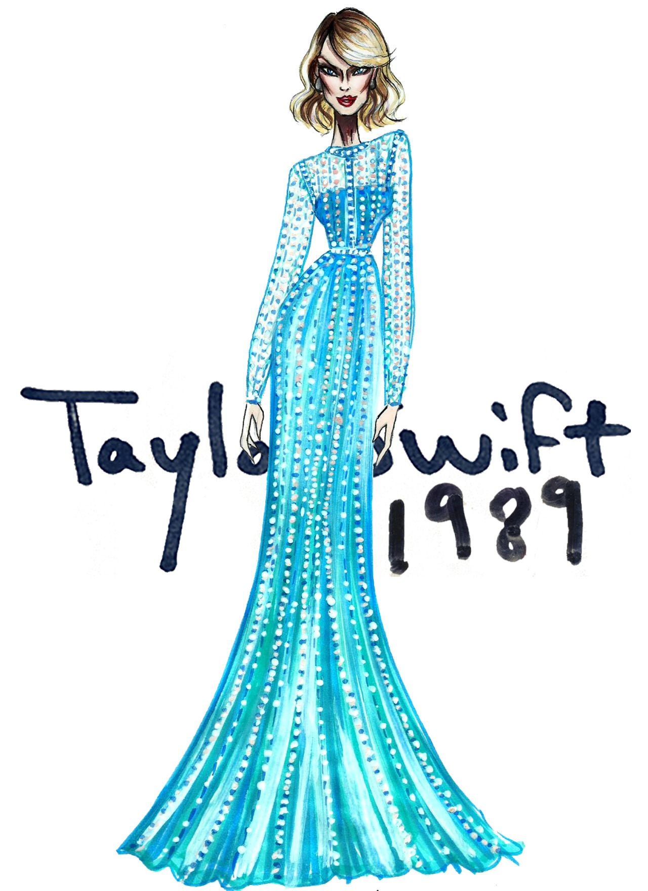 taylor swift 1989 blank space outfit sketch taylor