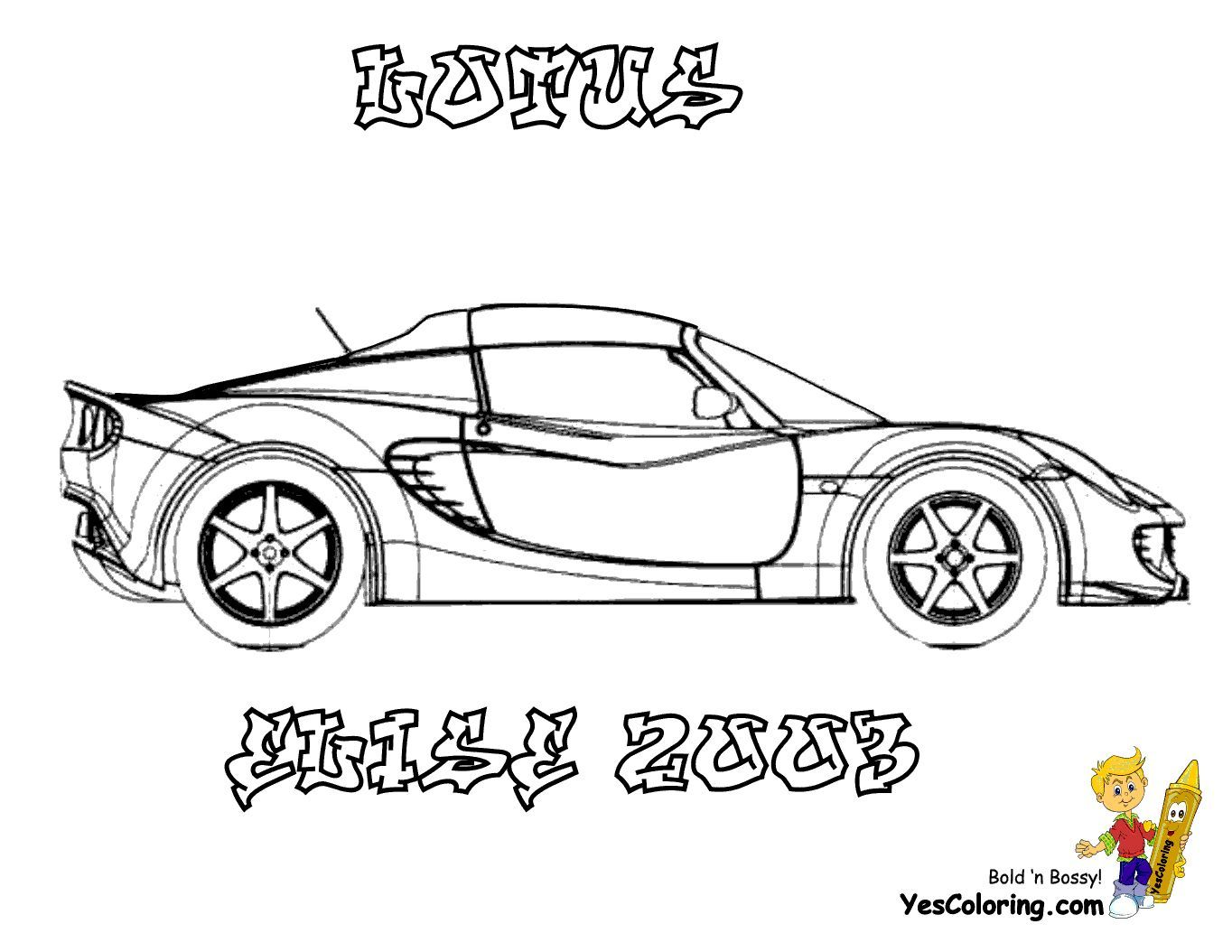Print Out This Lotus Elise Car Printable You Foolin Tell Other Coloring Kids Your Eyeballs Found Cars Coloring Pages Race Car Coloring Pages Drag Cars
