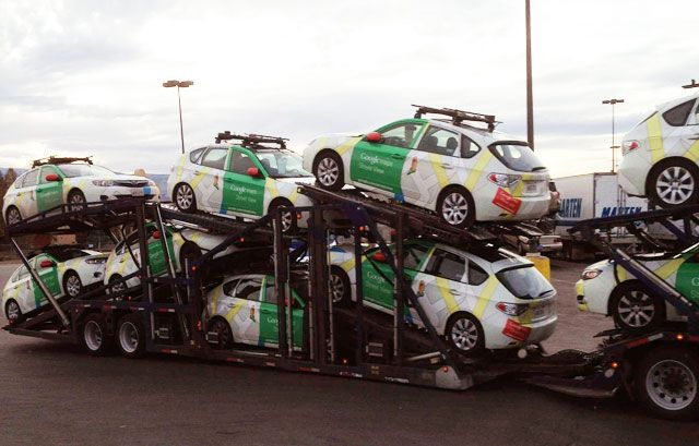 Transporting Google Maps Cars | Search Images | Photo booth ... on google maps engine, google maps history, google maps weather, google street view car location, google maps caught on camera, google maps miles, google maps vehicle with camera,