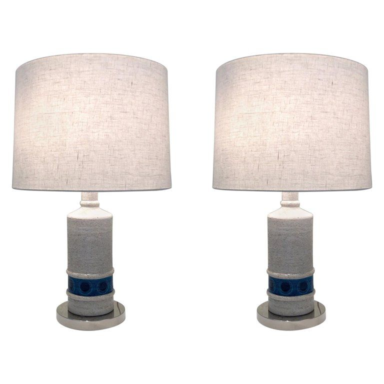 Pair of table lamps by Bitossi for