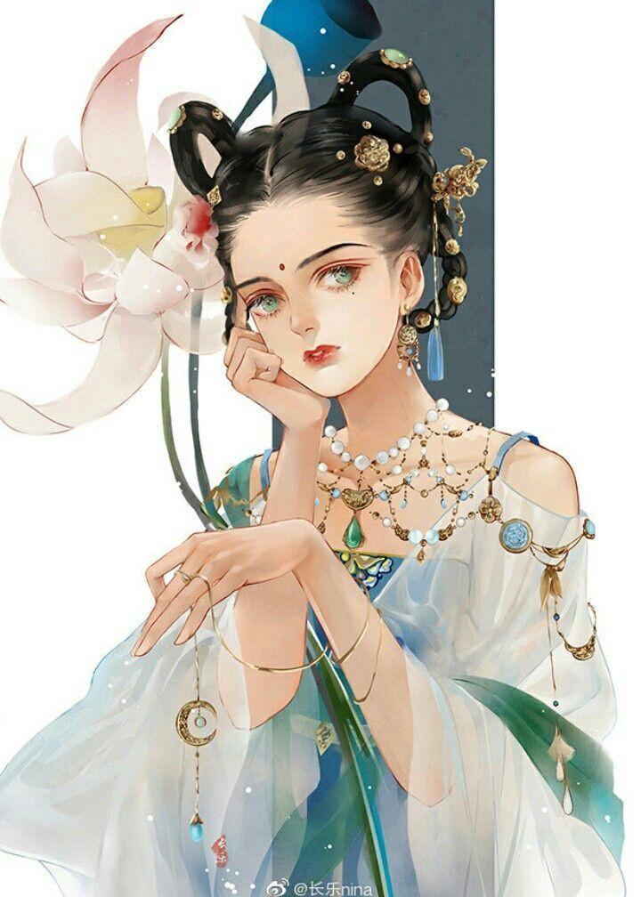 Anime Girl Lernt Ihre Kunst