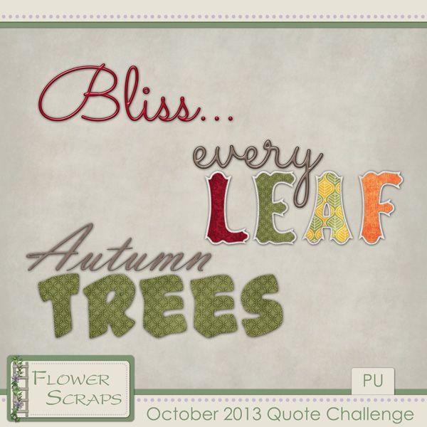 October 2013 Quote Challenge