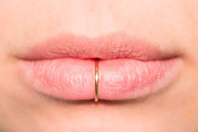 Gold Faux Piercing Lip Ring Jewelry Fashion Piercings Lip