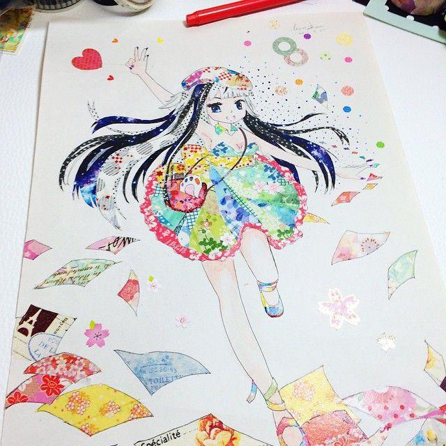 Log In Instagram Tape Art Watercolor Art Diy Washi Tape