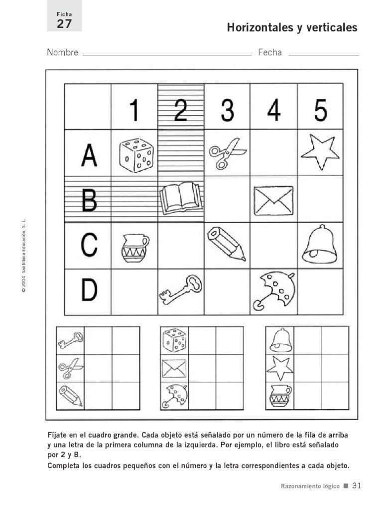 Fichas De Razonamiento Lógico Segundo Grado Segundo Grado Fichas Fichas De Matematicas