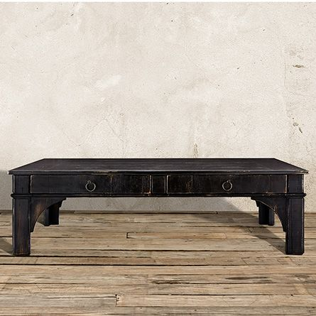 Allegro 63 Coffee Table In Rubbed Noir Coffee Living Room Furniture And Living Rooms