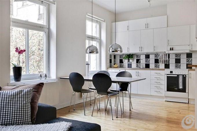 Cucine la cucina open space con zona pranzo e salotto cucina open space salotto pranzo bianca - Open space cucina salotto ...