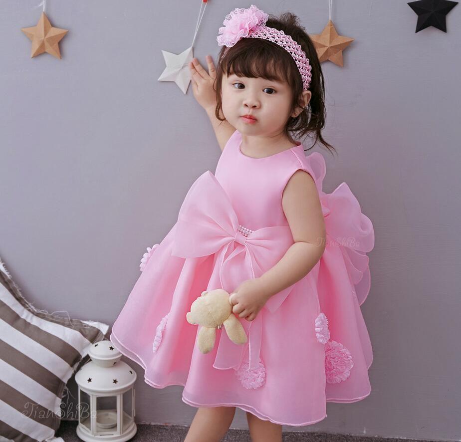 Click to Buy ucuc PC Baby Girl Flower Rhinestone Beads Dresses