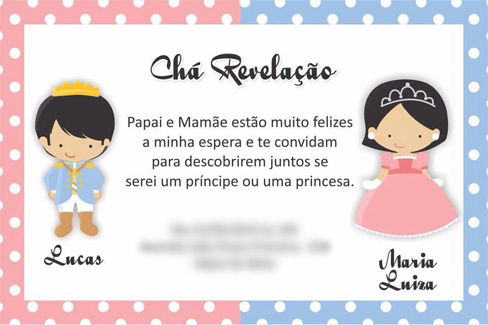 Mensagem De Convite De Cha De Fralda: Convite Chá Revelação