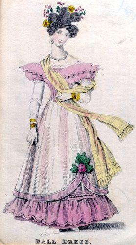 Ball dress, 1830-33.