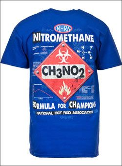 62ede824 Check out this cool CH3NO2 NHRA T-Shirt! For more like this go to  NitroMall.com.