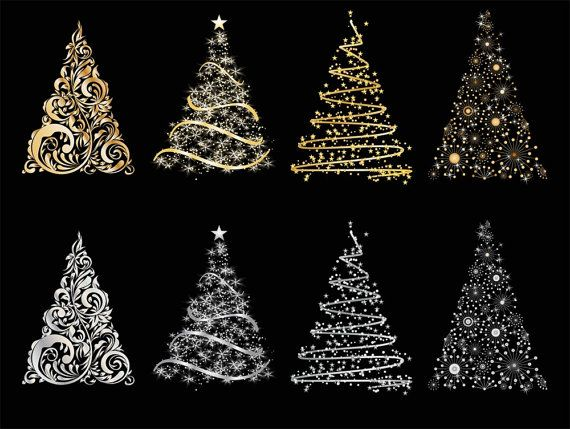 You Will Receive 8 Cute Christmas Tree Clip Art 3 In X 4
