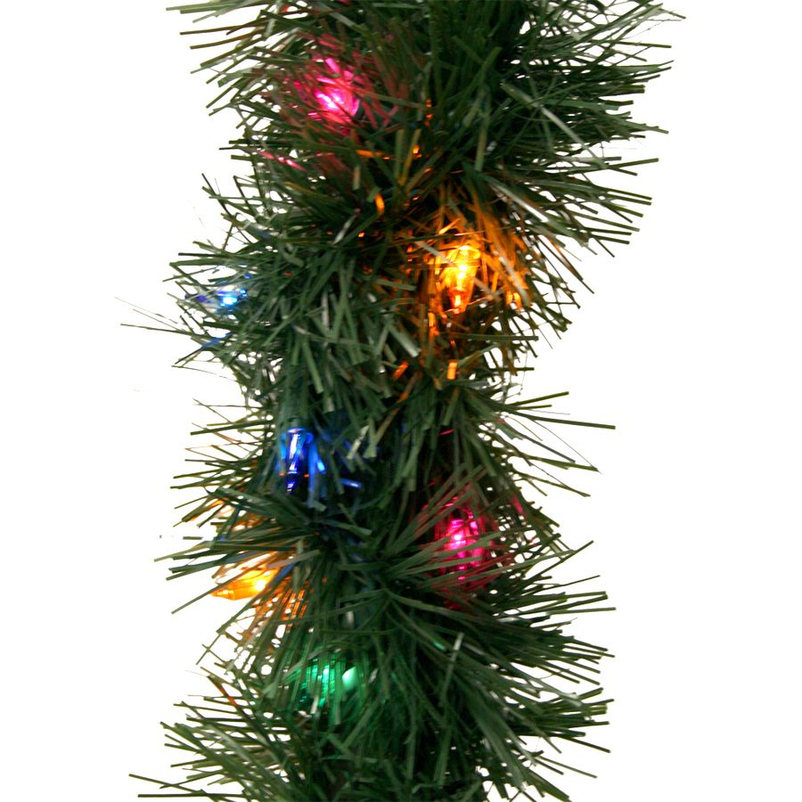 Lowes Christmas Garland.Shop Ge 45 Ft Pre Lit Indoor Outdoor Pine Artificial