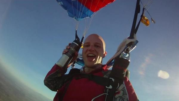 #Skydive and drink #coffee #PhilzCoffee!